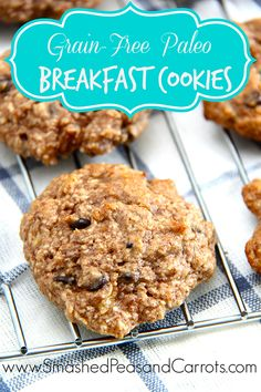 Grain-Free Paleo Breakfast Cookie Recipe - Smashed Peas & Carrots