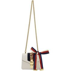 GUCCI White Mini Sylvie Bag. #gucci #bags #shoulder bags #leather #
