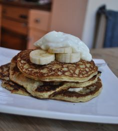 Before going on a diet, one of my favorite weekend breakfasts was pancakes. I like the leisurely feel of cooking in the morning when you don't have to rush off to work, and there is something reall. Dairy Free Recipes, Diet Recipes, Dessert Recipes, Cooking Recipes, Recipies, Gluten Free, Desserts, Healthy Breafast, Childrens Meals