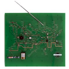 The PCB cad by Masahiko Shindo map is inspired by a spoof diagram created by the original designer of the London Tube map, Harry Beck, which shows the lines and stations as an annotated electrical circuit. Iconic landmarks on this map are represented by components relating to their functions, including a speaker where Speaker's Corner sits and a battery representing Battersea Power Station.
