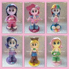 Fofucha em EVA para decoração de festa  Tema My Little Pony Equestria Girls