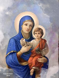 Blessed Mother Mary, Blessed Virgin Mary, Religious Images, Religious Art, Hail Holy Queen, Jesus Faith, Mama Mary, Sainte Marie, Mary And Jesus