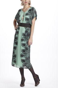 Plumes Kimono Midi Dress thestylecure.com