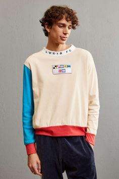 Lucid FC Flag Patch Crew Neck Sweatshirt - Urban Outfitters