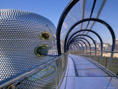 Selfridges Building and Walkway, Bullring, Birmingham photographed by Jean Brooks  Architect: Jan Kaplicky, Czech Republic