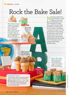 bake sale ideas Rock the Bake Sale, From the October 2010 issue of Parents magazine, by Karen Cicero. Photography by Monica Buck. Prop and Food Styling by Amy Atlas. REPRINTED WITH PERM Bake Sale Treats, Bake Sale Recipes, School Fundraisers, Thing 1, Catering, Sweet Tooth, Good Food, Fun Food, Yummy Food