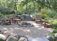 Stone patio & firepit!