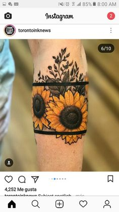 Popular Sunflower Tattoo Ideas for You - Tattoo, Tattoo ideas, Tattoo shops, Tattoo actor, Tattoo art - Tattoo Oma - Love Tattoos, Beautiful Tattoos, New Tattoos, Body Art Tattoos, Small Tattoos, Tattoo Art, Tatoos, Insane Tattoos, Random Tattoos