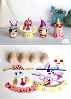 Imprimibles para decorar huevos de #Pascua > #Easter Egg Craft - Egg Decorating - Printables | Small for Big