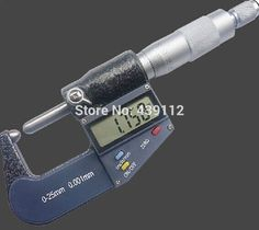 "82.64$  Buy now - http://alinah.worldwells.pw/go.php?t=2052644441 - ""Free shipping 0-1"""" (0-25mm) LCD 3-key digital electronic round head wall thickness Micrometer gauge 1"""" outside micrometer"" 82.64$"