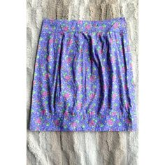 Blue Floral Skirt Perfect spring piece. Kimchi Blue Skirts