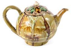 Majolica Teapot on OneKingsLane.com