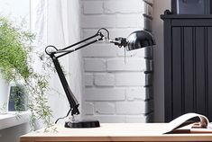 Ikea forsÅ work lamp with led bulb provides a directed light