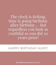Happy Birthday Aunt Funny Happy Birthday Wishes Aunt, Birthday Quotes For Aunt, Happy Birthday Celebration, Birthday Messages, Birthday Cards, Birthday Message To Myself, Aunt Quotes, Funny Health Quotes, Cards Diy