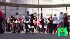 """Salsa Dancing """"Flash Mob"""" in Front of the Central Station in Brussels, B..."""