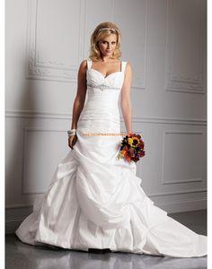 Jiskra a záře Taft Bez rukávů Svatební šaty 2015