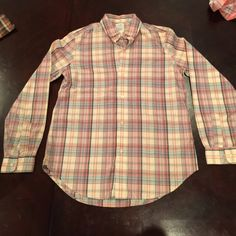 Vintage plaid button down shirt Size 8 about medium. Long sleeve butting down. Tops Button Down Shirts