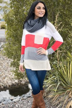 Color Block Knit Sweater | Shop this boutique deal on Jane before it's gone!