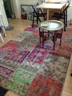 Silkeborg patchwork vintage Turkish rug from IKEA.