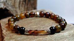 FREE SHIPPING  Men bracelet Men's beaded bracelet by FosforStore, $58.00