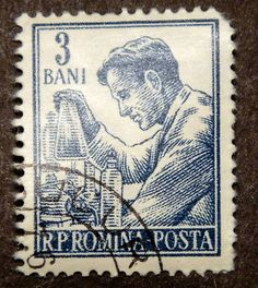 Stamp from Romania
