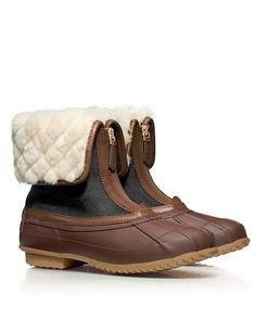Cozy winter booties by Tory Burch #wishlist