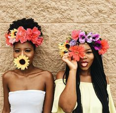 Black girls and flowers