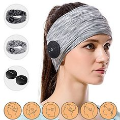 CozyPhones Sleep Headphones with Travel Bag - Ultra Thin Earphone Speakers - Most Comfortable Headphones for Sleeping - Perfect for Air Travel, Relaxation, Meditation & Insomnia - GRAY