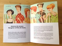 Laura Pérez creates some illustrations for Horchata Fanzine. The article speaks about different summer fun love stories.