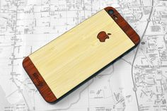 Natural Bamboo with Padauk two-tone iPhone 5 cover.