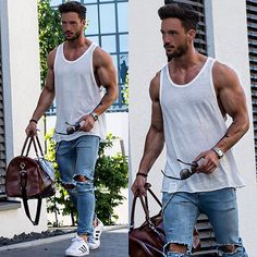 CHICS KIND is an online magazine for men's fashion. We try to cover a wide variety of topics on trends Summer Wear, Summer Outfits, Casual Outfits, Men Casual, Summer Sun, Look Fashion, Mens Fashion, Fashion Outfits, Street Style Vintage