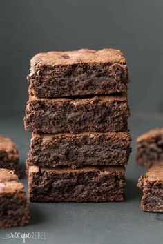 The BEST brownies! Rich, dense, fudgy brownies every time. So easy and come together with just a bowl and a whisk. Includes how to recipe video