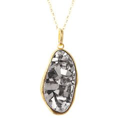 "Treat her to a Marcia Moran Organic Titanium Druzy Necklace - on sale for $189.00! Pendant 1""w x 2""h"