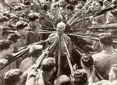 Col. Anthony Joseph Drexel Biddle, hand-to-hand combat expert, 1943. Known for ordering trainee Marines to attempt to kill him with bayonets, and disarming them all.
