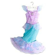 Disney Ariel Costume for Kids | Disney StoreAriel Costume for Kids - There is a ripple of excitement when transforming into <i>The Little Mermaid</i> with this shimmering Ariel Costume. The detailed outfit features glittering fabrics to sparkle in the role of the Disney Princess.