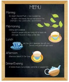 Bonus! Here's a suggested tea menu for the day: