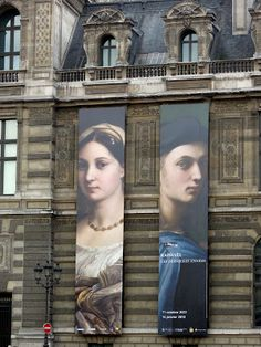 Le Louvre Museum Exterior ~ Exhibition 'Late Raphael' January 2013