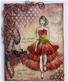 Style Mixed Media Canvas Tutorial; beautiful video tutorial!!