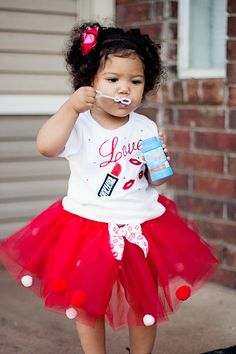 Adorable outfit to wear on Valentines Day. From Cutie Pa Tutu. #giveaway.