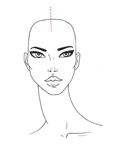 Face Portrait Template | Face Drawing Template Illustrations Photoshop Painter