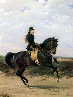 Queen Wilhelmina of the Netherlands riding sidesaddle on a horse, painted by Otto Eerelman Art Painting, Art Pictures, Equestrian Art, Art History, Animal Art, Art, Horse Art, Vintage Artwork, Animal Paintings
