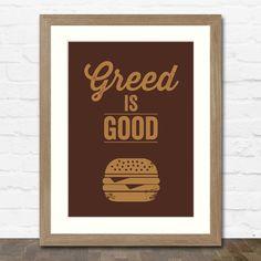 Greed Is Good Print - Inspired by Gordon Gekko, Wall Street