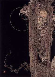 The paintings of Takato Yamamoto have a vicious beauty; their stunning detail is akin to the Ukiyo-e woodblock prints of the century that initially influenced his work, but Yamamoto Design Graphique, Art Graphique, Yamamoto, Art Inspo, Illustrations, Illustration Art, Japanese Illustration, Art Kawaii, Animes Yandere