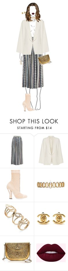 """""""FASHION DINNER"""" by celsoromera ❤ liked on Polyvore featuring Vanessa Bruno, Fendi, Erickson Beamon, Chanel and From St Xavier"""