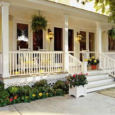Wishing I had this porch with a swing on it!