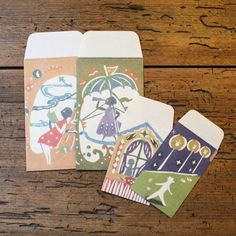 Pochibukuro is small paper pocket/envelope to give money in as in Japan we have a custom to give money to small ch Paper Pocket, Pocket Envelopes, Paper Packaging, Japanese Design, Paper Goods, Letterpress, Stencils, Stationery, Gift Wrapping