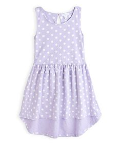 Another great find on #zulily! Lavender Knit Hi-Low Dress - Girls #zulilyfinds