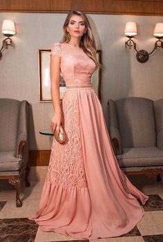 Cute Dresses, Prom Dresses, Formal Dresses, Long Dresses, Outfit Grid, Outfit Goals, Rose, Ideias Fashion, Chiffon