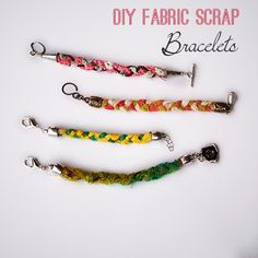 Make DIY Scrap Fabric Braclets - SO easy @savedbyloves