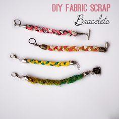 Make DIY Scrap Fabric Braclets - SO easy @savedbyloves